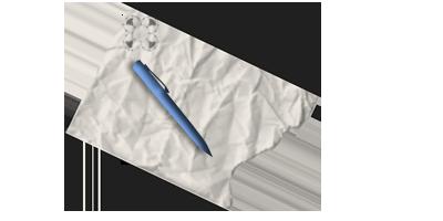 Ручка и бумага в фотошопе