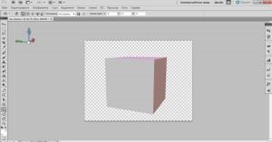 3D куб в фотошопе