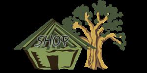 Дом и дерево в иллюстраторе