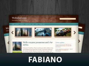 Скриншот WordPress темы Fabiano