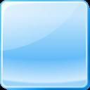 Кнопка голубая стеклянная