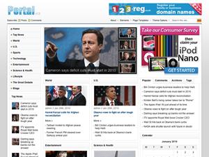 скриншот вордпресс темы портал
