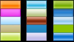 Создание элементов меню в фотошопе