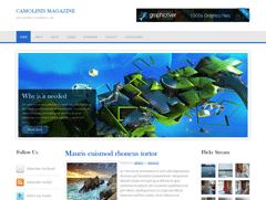 Wordpress тема 3 колонки Camolinis  Magazine