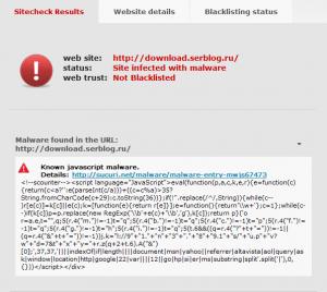 Вредоносный код на сайте, вирус
