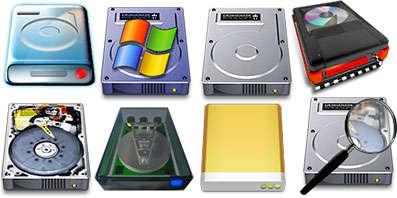 Иконки жестких дисков