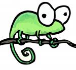 Рисованный хамелеон Notepad++