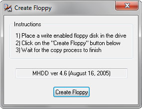 Окно программы MHDD